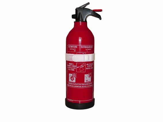 brandblusapparaten verplicht bij fuiven in loods
